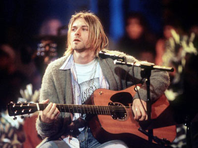 Kurt Cobain bei MTV unplugged